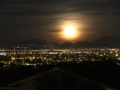 Moonrise over McDowell Mountains
